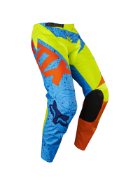 PANTALON FOX 180 JUNIOR AMARILLO-AZUL-NARANJA FLÚOR