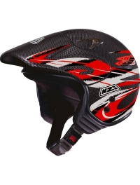 CASCO NZI TRIALS CARBONO ROJO